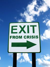 exit-from-crisis-sign
